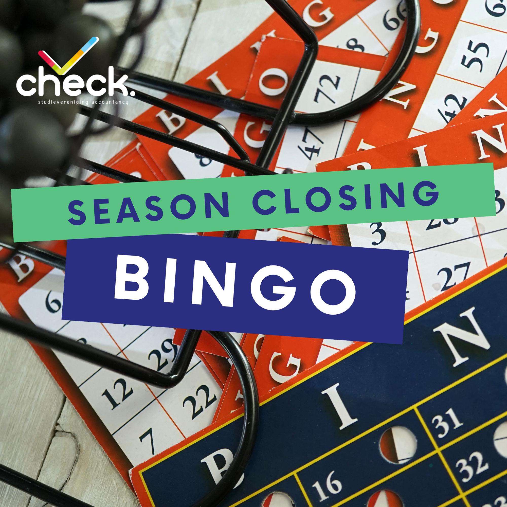 Season closing bingo